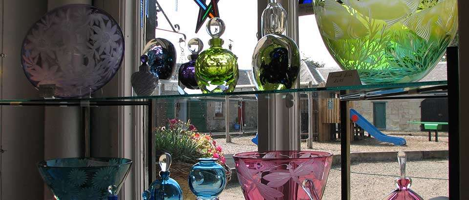 Julia Linstead's gorgeous glass at The Hirsel