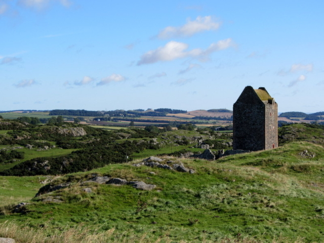 Smailholm Tower can be seen from Hendersyde