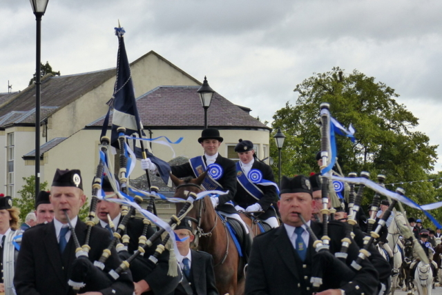 Kelso Laddie - leading out the Yetholm Ride - in Kelso Civic week