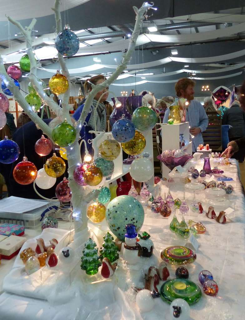 Creative glass makers at The Crafters Fair, Springwood in November