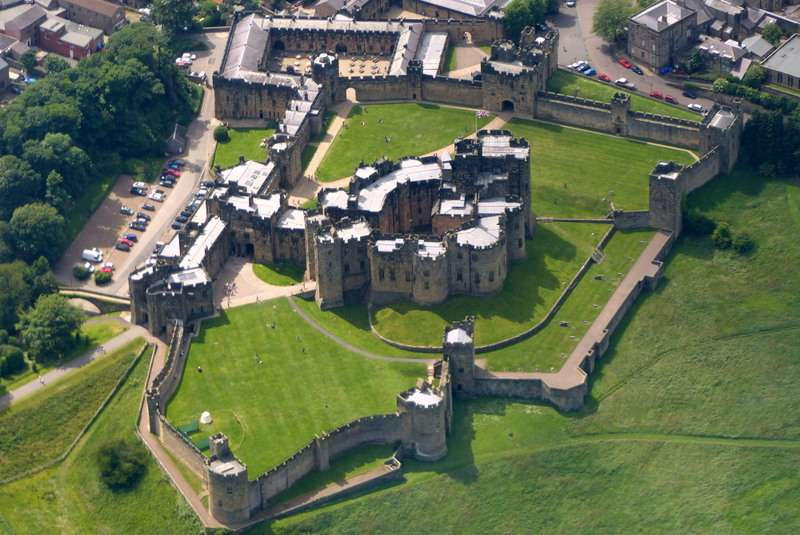 Alnwick Castle from above!