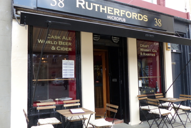 Rutherfords - Scotland's first, & so far only, micropub. A sociable setting in The Square