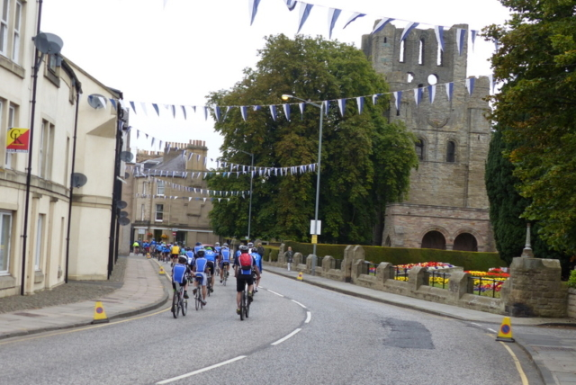 Kelso Wheelers passing The Abbey