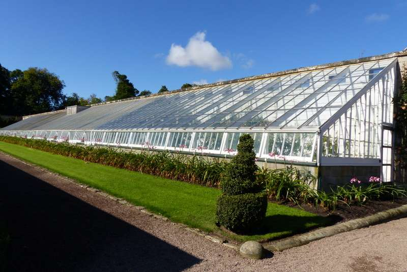 One of the glass houses at Floors Castle Garden