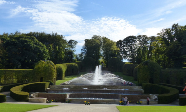 Alnwick Castle Gardens in Northumberland