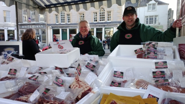 Kelso Farmer's Market - Hardiesmill - you can visit their butchery too.