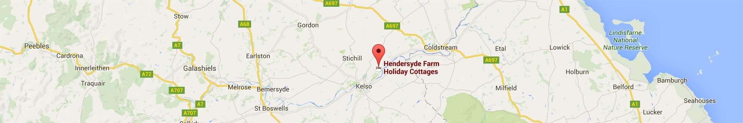 Find Hendersyde Farm Holiday Cottages