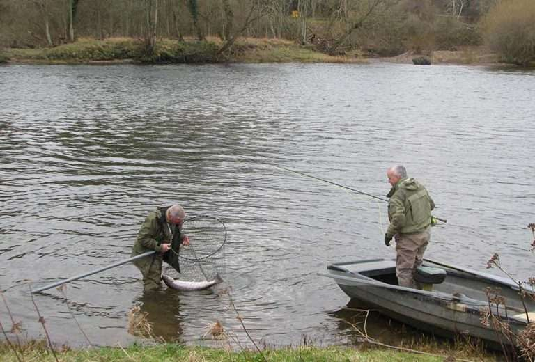 Salmon Fishing on The River Tweed, Kelso