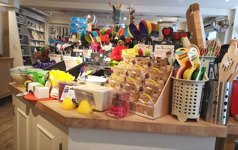 Lots of independent shops in Kelso, Borders Cookware