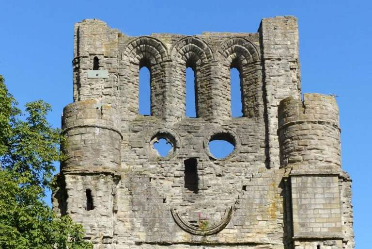 A welcoming smile from Kelso Abbey