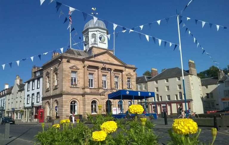 Kelso Square - decorated for Civic Week in July